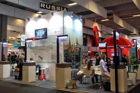 Stand russe au salon international du tourisme IFTM Top Resa 2014. Crédit : Maria Tchobanov