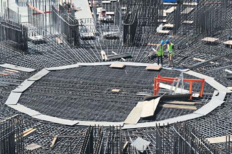 Le chantier du réacteur de fusion nucléaire ITER à Cadarache, en France. Crédit : AFP/EASTNEWS