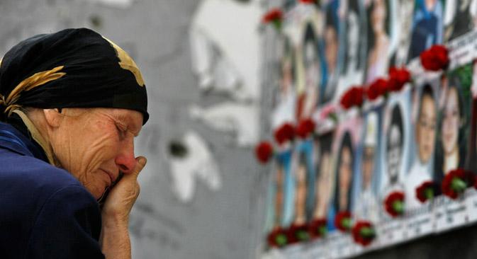 À Beslan, l'année scolaire ne commencera plus jamais le 1er septembre. Crédit : AP