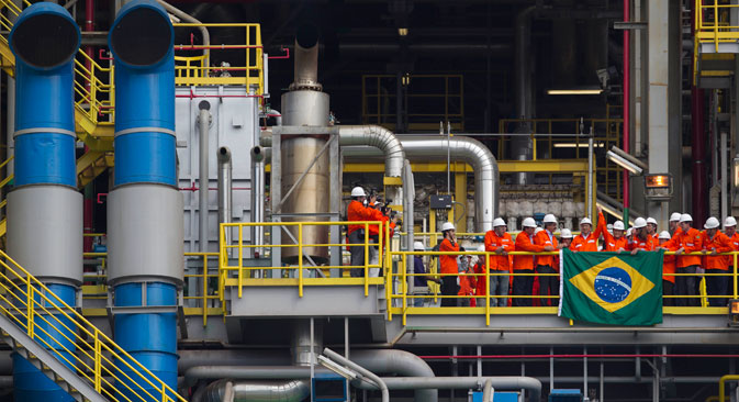 Au Brésil, Gazprom s'est intéressé aux gisements où la prospection est déjà lancée. Crédit photo : AP
