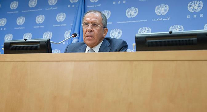 Sergueï Lavrov a indiqué que Moscou n'envisageait pas de prendre l'initiative d'améliorer les relations avec les États-Unis. Crédit : AP