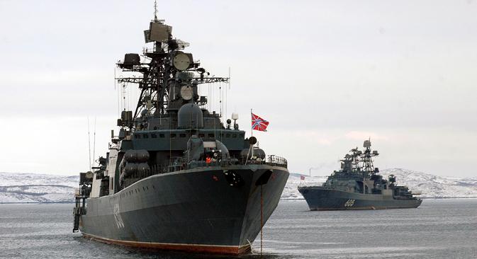 La présence des militaires russes dans l'Arctique revêt une portée géopolitique profonde. Crédit : Itar-Tass