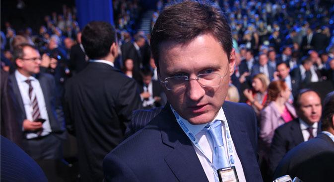 Le ministre russe de l'Energie Alexandre Novak au Forum d'investissement de Sotchi. Crédit : ITAR-TASS