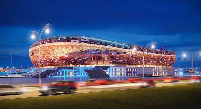 Le projet du future du stade à Saransk. Crédit : service de presse