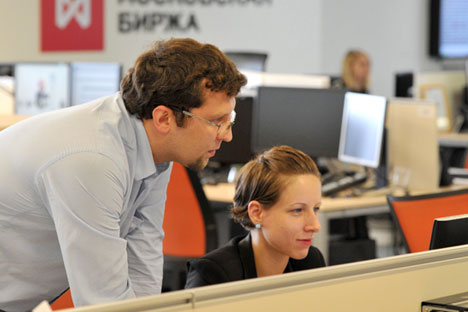 Mithilfe von Investmentkonten soll der Börsenhandel stabiler werden. Foto: Sergej Kusnezow/RIA Novosti