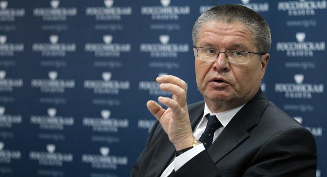 Alexeï Oulioukaev, ministre russe du Développement économique. Crédit : Olessia Kourpiaeva/RG