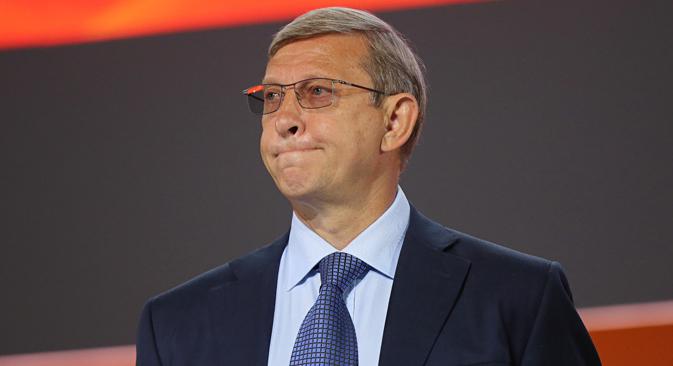 16 juin 2014 : Vladimir Evtouchenkov lors du 21ème Congrès mondial du pétrole à Moscou. Crédit : Getty Images/Fotobank