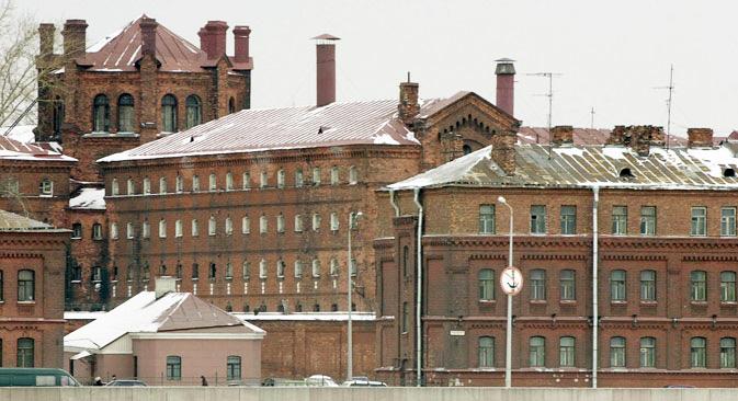 L'ancienne prison Kresty située dans le centre de Saint-Pétersbourg. Crédit : TASS