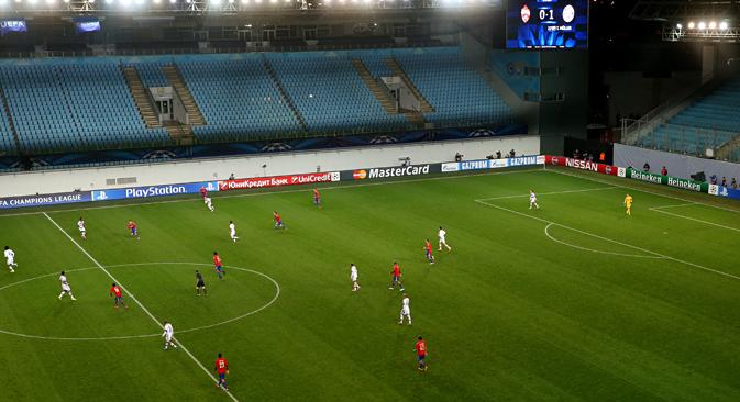 Le match de la Ligue des Champions entre CSKA Moscou et Bayern Munich. Crédit : Valeri Charifoulline/TASS
