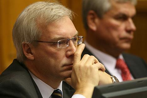 Alexandre Grouchko, représentant permanent de la Russie à l'Otan. Crédit : PhotoXPress