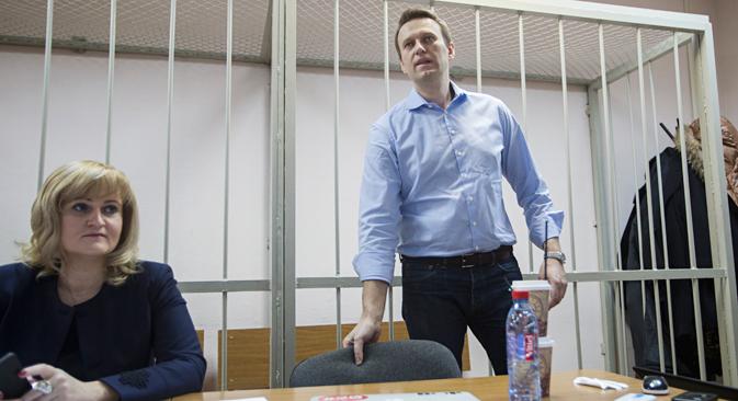 Die Staatsanwaltschaft verlangt für Alexej Nawalny eine Haftstrafe von zehn Jahren. Foto: AP