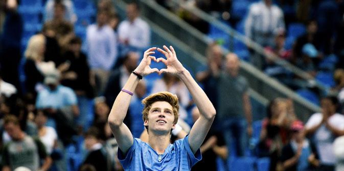 Le tennisman russe Andreï Roublev. Crédit : Vladimir Astapkovitch/RIA Novosti