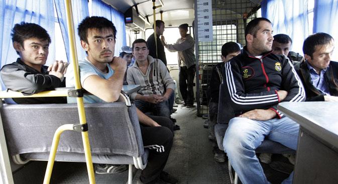 La majorité des migrants vient des pays de la CEI, principalement d'Ouzbékistan, du Tadjikistan et d'Ukraine. Crédit : Tatiana Andreeva/RG