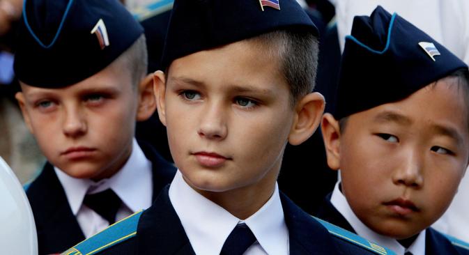 Élèves d'une école présidentielle des cadets. Crédit photo : Vitaly Ankov/Ria Novosti