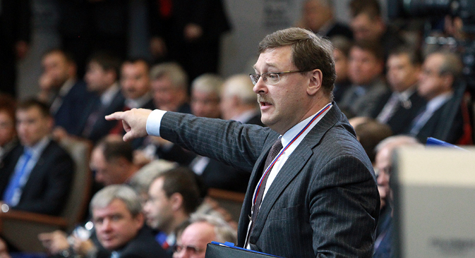 Konstantin Kossatchev est nommé directeur de la commission des Affaires étrangères de Conseil de la Fédération. Crédit : Oleg Prasolov/RG