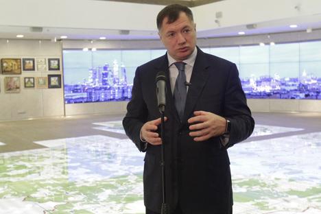"""Le premier adjoint du maire de Moscou, Marat Khousnoulline. Crédit : L'agence """"Moskva"""""""