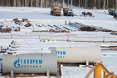 Resultados financeiros da Gazprom foram também prejudicados por desvalorização do rublo Foto: Ígor Agueenko/RIA Nóvosti