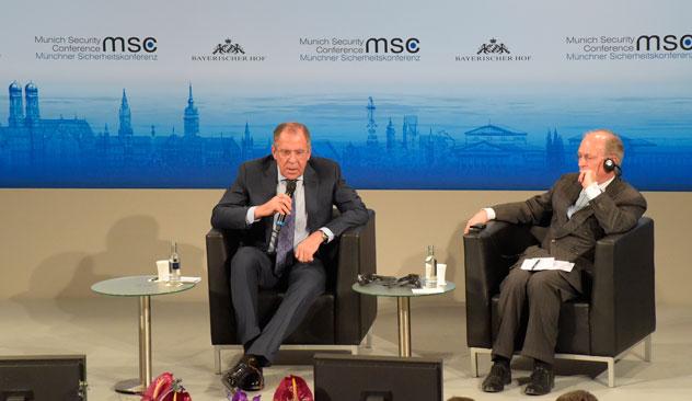 Der harsche Ton von Lawrows Münchner Rede überrascht Experten nicht. Foto: Eduard Pesow/Russisches Außenministerium