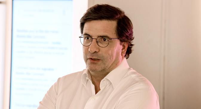 Carlo d'Asaro Biondo, président de Google Europe du Sud, de l'Est, Moyen-Orient et Afrique. Crédit : Google