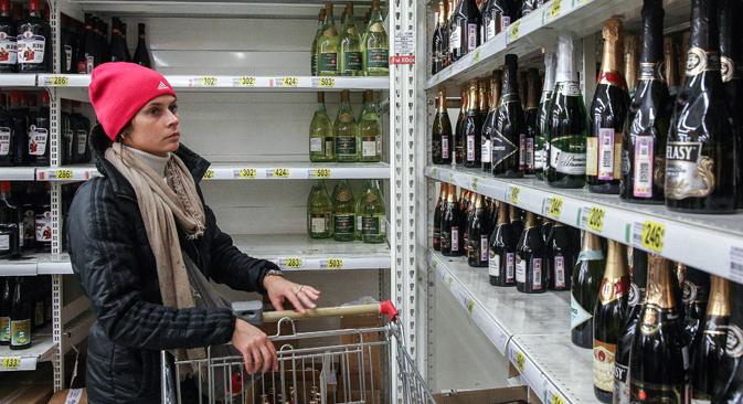 Seuls les vins les plus populaires parviendront à survivre à la crise. Crédit : Mikhail Pochuev/TASS