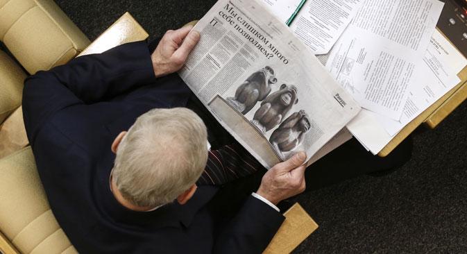 Politiker sollen für den Boykott von Presseanfragen härter bestraft werden. Foto: Michail Dschaparidse/TASS