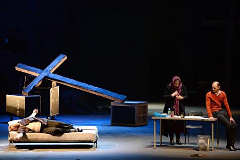 Une scène de l'opéra Tannhäuser, dont l'action est transposée par Timofeï Kouliabine à notre époque. Crédit : Alexandre Kriajev/RIA Novosti
