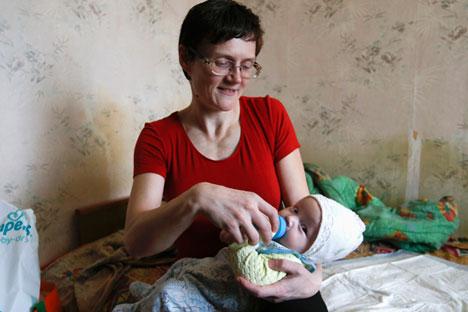 L'histoire de Svetlana Davydova, mère d'une famille nombreuse, a eu un grand retentissement dans la société russe. Svetlana Davydova Crédit : Reuters