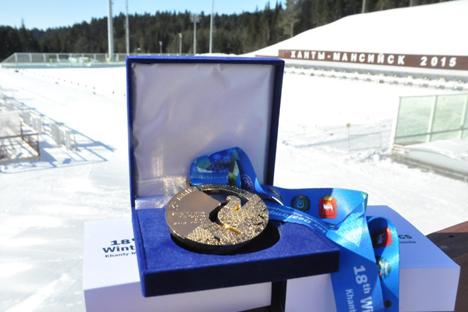 Le dessin de la médaille représentera le petit tétras. Crédit : XVIIIe Jeux Sourdlympiques