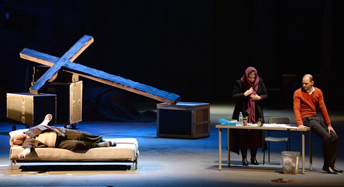 """Ein Gericht sieht in Kuljabins """"Tannhäuser""""-Inszenierung keine Blasphemie. Foto: Alexander Krjaschew/RIA Novosti"""