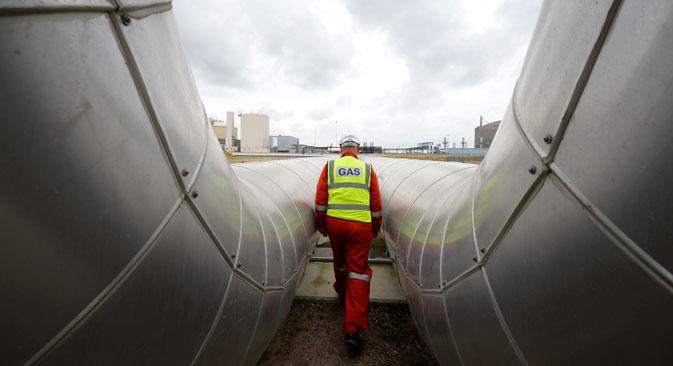 En mars 2014, Gazprom a considérablement augmenté les livraisons de gaz en Europe et le transit d'hydrocarbures via l'Ukraine. Crédit : Reuters