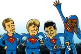 Merkel Obama Poutine