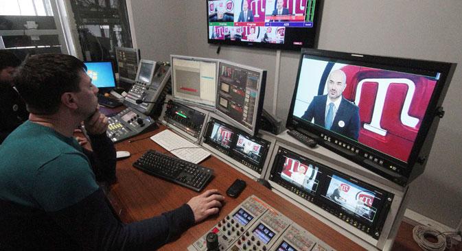 Les médias du holding privé des Tatars de Crimée ATR n'ont pas tous été réenregistrés. Crédit : Alekseï Pavlichak / TASS
