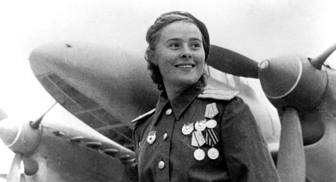 Maria Dolina, commandant par intérim d'un escadron du 125e régiment. Source : wikipedia.org