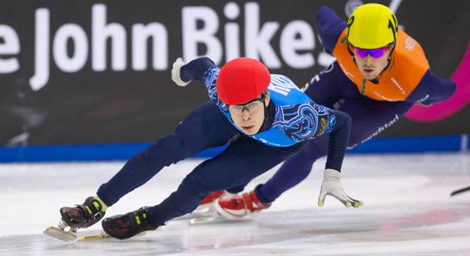 Le patineur de vitesse Semion Elistratov. Crédit : Imago / Legion Media
