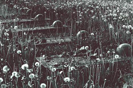 Krasnikholm Un « Champ de mémoire » où ont été ensevelis dans des fosses communes les restes de soldats soviétiques. Crédit : JS Cartier