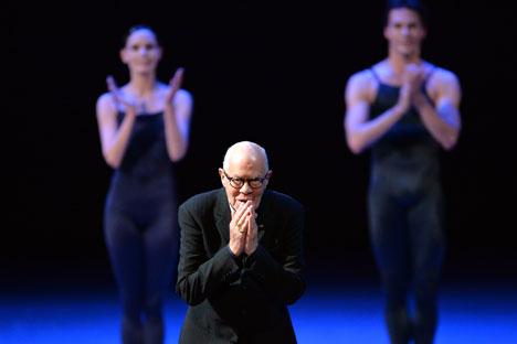 Le chorégraphe du Dutch National Ballet Hans van Manen lors du gala au théâtre du Bolchoï. Crédit : Ilia Pitalev/RIA Novosti