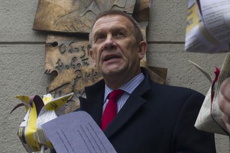 Sergueï Nikitine, directeur du bureau russe de l'organisation internationale de défense des droits de l'homme Amnesty International. Crédit :  Sergueï Bobylev / TASS