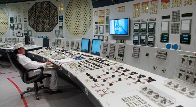 Dans la centrale nucléaire de Smolensk. Crédit : TASS