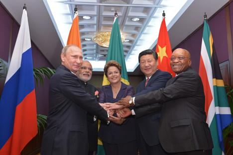 Les présidents des BRICS. Crédit : EPA