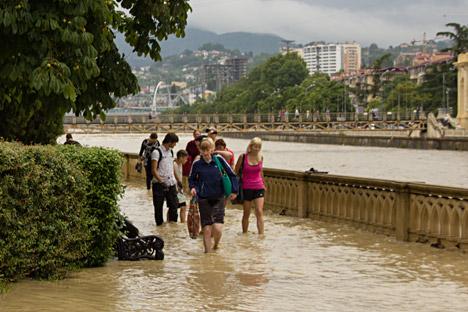 Sotchi après des pluies diluviennes. Crédit : Ekaterina Lyzlova/RIA Novosti