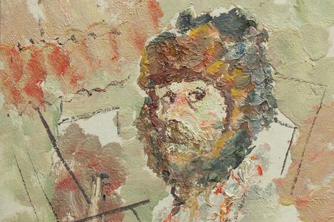 Anatoli Zverev, autoportrait, 1959. Source : service de presse du musée Anatoli Zverev