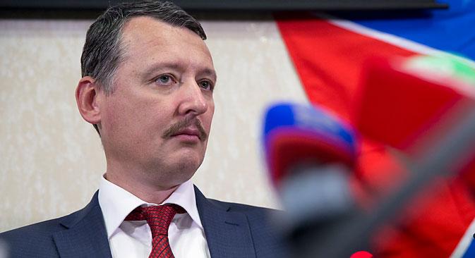 En moins d'un an (depuis l'automne jusqu'au mois de mai), la popularité d'Igor Strelkov (sur la photo) en Russie s'est accrue pour passer de 21% à 27%. Crédit : AP