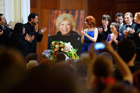 Le concert en mémoire de Elena Obraztsova au Conservatoire Tchaïkovski de Moscou.
