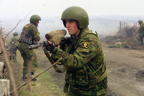 Anti-Terror-Übung in südrussischem Nowotscherkassk.