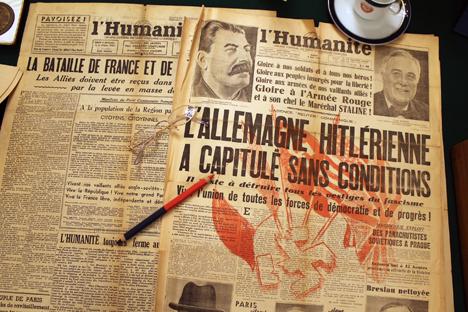 L'Humanité, 9 mai 1945.