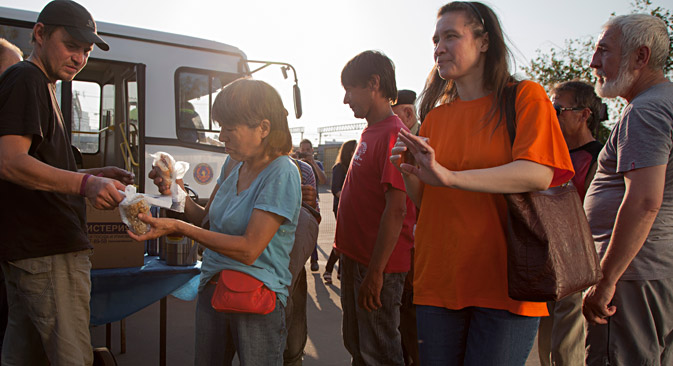Movie treats for Moscow's homeless