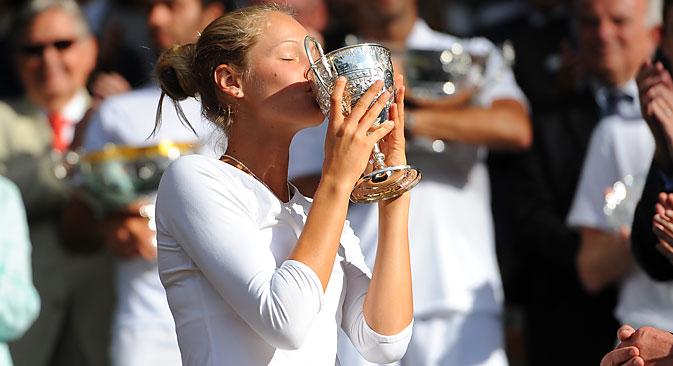 Die 15-jährige Russin Sofja Schuk gewann dieses Jahr im Juniorenturnier von Wimbledon.