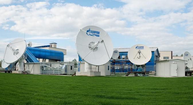 Le système de communication par satellite Yamal.