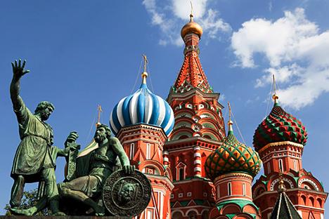 La Cathédrale Saint-Basile de Moscou.