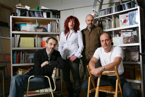 De gauche à droite : Vladimir Fridkes, Tatiana Arzamasova, Evgeny Svyatsky et Lev Evzovitch.